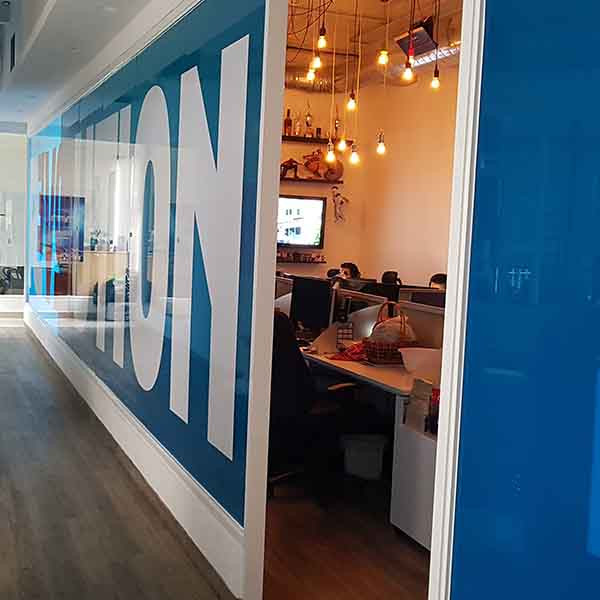 Remodelación de oficina de TVN.