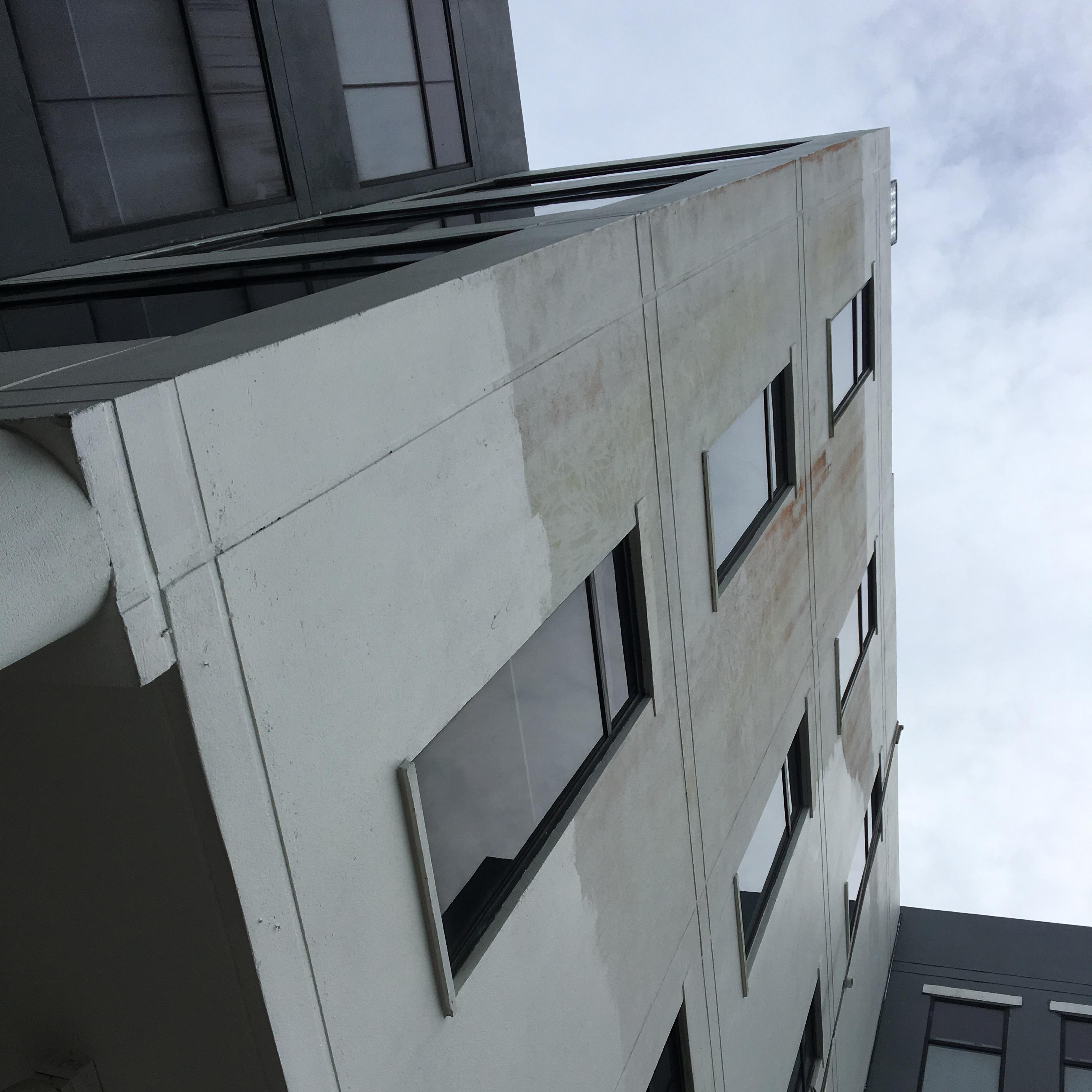 Fotografía de proyecto de Inspección de pintura exterior en TVN.
